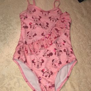 Little Girls Disney Minnie mouse faces Swimsuit